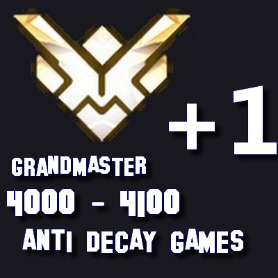 GRANDMASTER INactivité Overwatch RANK BOOST ANTI DECAY FR ranked boosting ow