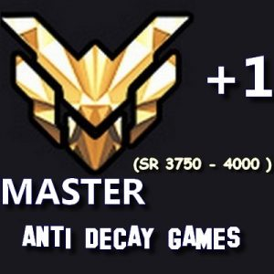 MASTER ANTI DECAY INACTIVITE Overwatch Ow Boost booster Rank Ranked