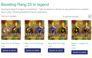 Boosting rang hearthstone legend boosting FR
