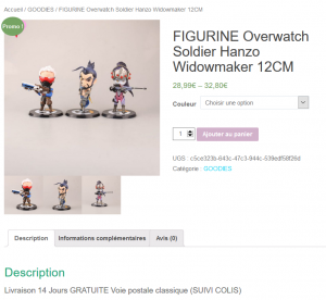 Figurines Overwatch Hanzo Soldier Goodies Figurine