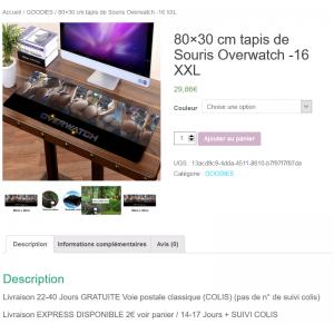 Tapis de Souris Fesses cul Overwatch GOODIES