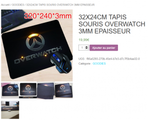 Overwatch TAPIS SOURIS XL GRAND Goodies