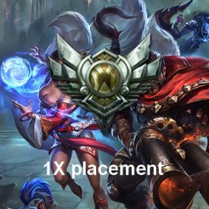 Silver / argent Placements games League of legends
