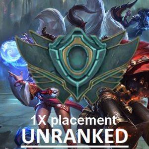 Unranked Placement Non classé Nouveau compte