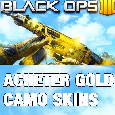 Acheter skin arme en or cod bo4